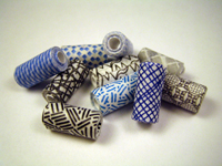 Security envelope paper beads at Junk Mail Gems