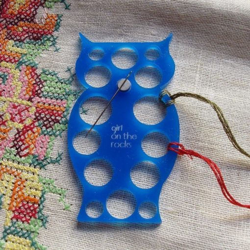 owl embroidery floss organizer