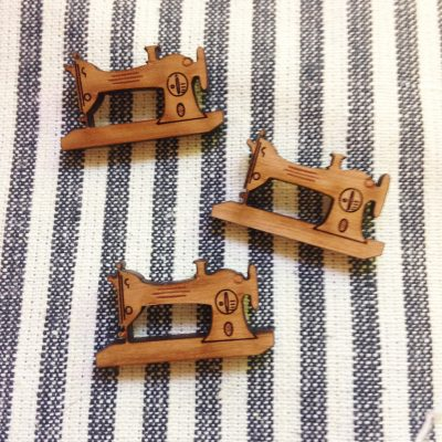 Trio of sewing machine magnets