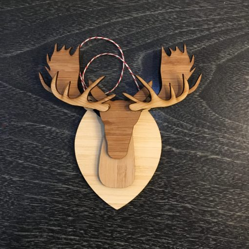 Moose mounted ornament
