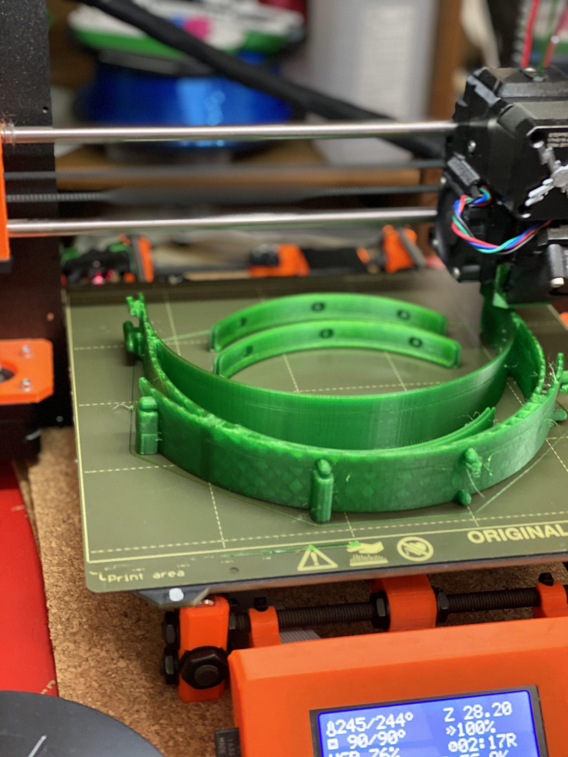 Prusa face shield 3D printer