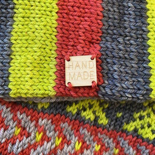 tag on a scarf